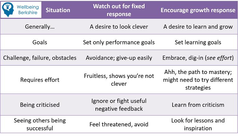 Growth (learning) Mindset summary